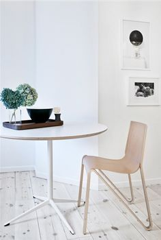 Stunning chair, bought at Tom Rossau - but who makes it?? Dining table from Hay