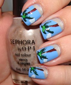 I'm always here to give you some wonderful ideas.For today I have made you a collection of 47 amazing retro nail designs.Your nails should always look shiny Fancy Nails, Love Nails, Pretty Nails, Latest Nail Designs, Cool Nail Designs, Nail Polish Designs, Acrylic Nail Designs, Sunset Nails, Beach Nails