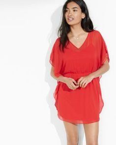 red mini caftan dress from express.