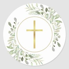 Holy Communion Invitations, Christening Invitations, Tattoo Cake, First Holy Communion, Gold Cross, Boy Birthday Parties, Party Accessories, Christmas Card Holders, Round Stickers