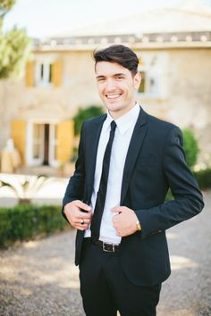 Handsome groom: http://www.stylemepretty.com/destination-weddings/2014/10/29/romantic-italian-wedding-inspiration/   Photography: Rebecca Arthurs - http://rebecca-arthurs.com/