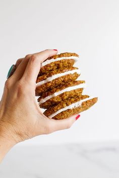 Homemade Oatmeal Cream Pies - Mom Loves Baking Oatmeal Creme Pie, Plain Cookies, Homemade Oatmeal, Cookie Calories, Gluten Free Oats, Cream Pies, Cookie Dough, Sweet Recipes