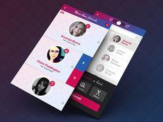 Matchmaking App UI designed by Aaron Humphreys. Web Design, App Ui Design, Mobile App Design, User Interface Design, Ui Color, Mobile App Templates, Mobile App Ui, User Experience Design, Ui Inspiration