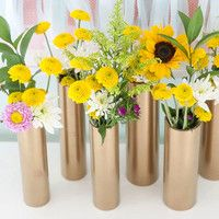 Recycled Gold Flower Vase Tutorial