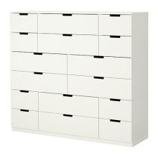 NORDLI (IKEA Chests of Drawers) cm color:White ( Furniture > Bedroom Furniture > Bedroom Storage > Chests of Drawers ) Ikea 2015, Ikea Chest Of Drawers, Storage Drawers, Craft Organization, Craft Storage, Bath Storage, Nordli Ikea, Teen Furniture, Plywood Furniture