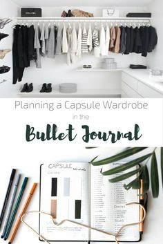 Complete description of how to create a capsule wardrobe using your Bullet Journal | Minimalism