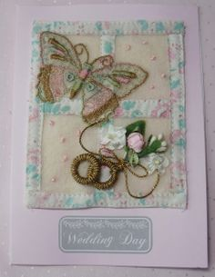 vintage fabric card