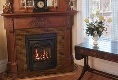 Zero Clearance corner Gas Fireplace | Gas Fireplaces - Our zero clearance gas fireplace main page