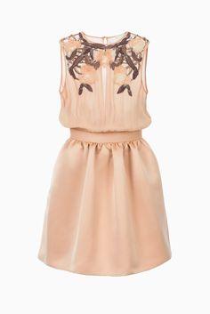 Abito con ricamo floreale - Abbigliamento su Digital Store ELISABETTA FRANCHI - la Boutique online ufficiale