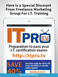 FMG is offering a 30% #discount on #ITProTV for your next IT #Certification http://wu.to/y8NrHH #skills