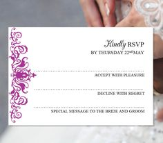 the 55 best printable wedding rsvp and enclosure card templates