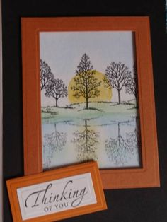 Mirror'd lovely tree