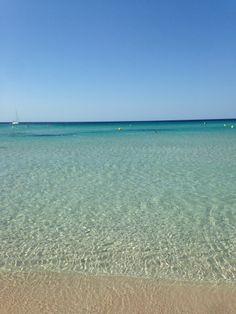 Son Bou Beach Aguas transparentes y cristalinas #menorca #paraíso