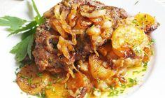 Krkovička zapečená s bramborami a šlehačkou | Vaření s Tomem