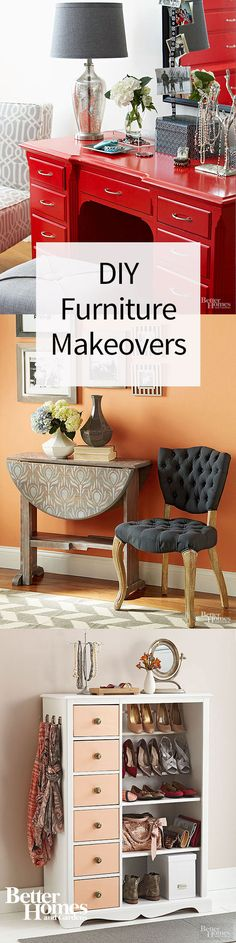 Restoring an old desk or dresser can be cheap, especially compared to buying new furniture. These amazing before and after photos of our favorite DIY furniture projects will inspire you to enhance your home's decor with refurbished pieces.
