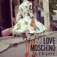 Photo by frassyaudrey  #moschino #mymoschino #dress #flowers #love