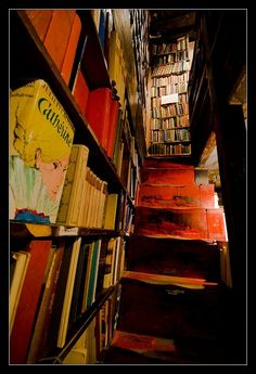 Inside the bookshop ~ Shakespeare & Co. ~  in Paris