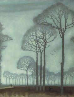 Jan Mankes (Dutch, 1889-1920) Bomenrij, 1915. Oil on canvas.