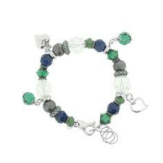ESMERALDA buntes Silber Bettelarmband **SALE** 85,-Euro statt 135,-Euro  #princesslioness #silberschmuck #silberarmband #bettelarmband #grünesteine #blauesteine
