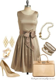 """""""Polka Dots and Bows"""" by lindsycarranza on Polyvore"""