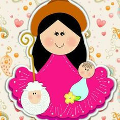 La Divina Pastora Maria Jose, Madonna And Child, Minnie Mouse, Disney Characters, Fictional Characters, Projects To Try, Religion, Christmas Ornaments, Holiday Decor