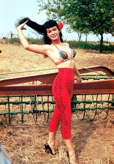 Bettie Page, 1950s.