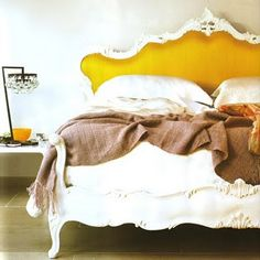Layers & textures... yellow bed