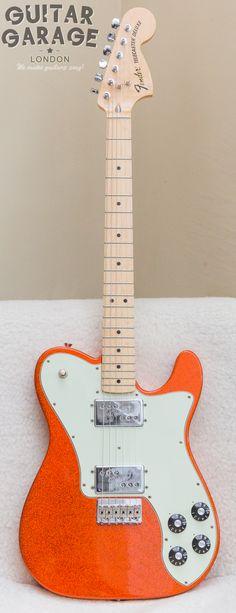 2012 FENDER Telecaster 72 Deluxe FSR Limited Edition Tangerine Sparkle Buy Guitar, Guitar Room, Guitar Amp, Cool Guitar, Fender Electric Guitar, Fender Guitars, Fender Telecaster Deluxe 72, Bass Amps, Playing Guitar