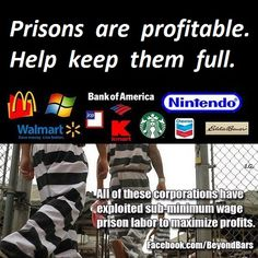 Private prison corporations pay millions to lobbyists. and extort $100,000 -$1,000,000 a year per head  in the Modern Slave Trade.  The companies making a profit from privatized prison system......