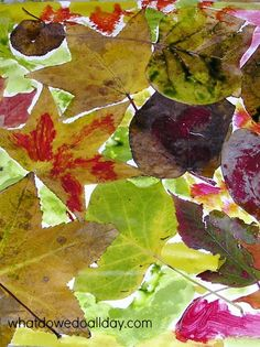 Nature Art Project for Kids • Fall Leaves and Watercolor