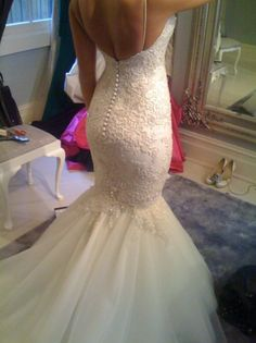 I'm a sucker for a lace, mermaid style gown and this one ticks all my boxes for my perfect wedding gown. Wedding Dress Mermaid Lace, Wedding Dresses Uk, Mermaid Dresses, Cheap Wedding Dress, Bridal Gowns, Mermaid Gown, Tulle Wedding, Dress Lace, Backless Wedding