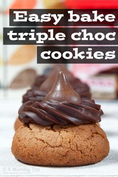 Easy bake triple chocolate cookies (recipe)