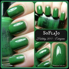 Evergreen from the Christmas 2013 Nail Polish by SoFlaJo on Etsy