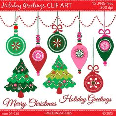 digital holiday clip art christmas tree by LaurelingStudios, $2.99 Christmas Tree Clipart, Create Christmas Cards, Christmas Tree Ornaments, Christmas Holidays, Merry Christmas, Advent Images, Craft Supplies, Clip Art, Holiday Decor
