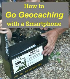 geocaching with a smartphone gps #VZWBuzz