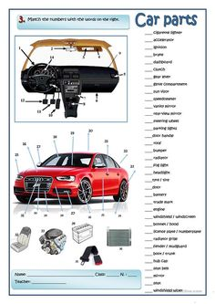 A car mechanic - English ESL Worksheets for distance learning and physical classrooms Good Vocabulary Words, English Vocabulary, English Lessons, Learn English, Teaching Theatre, Car Facts, Conversation Cards, Car Audio Systems, School Worksheets