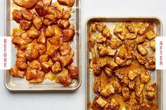5 fast and easy chicken bite recipes kitchn Chicken Spices, Chicken Seasoning, Baked Chicken, Boil Chicken, Cubed Chicken Recipes, Keto Chicken, Buffalo Chicken Bites, Cheesecake, Turkey Recipes