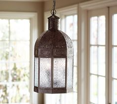Casablanca Lantern | Pottery Barn $150 - our bathroom, is there a wall mounted version?