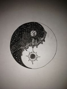 Yin Yang symbol art Tattoo Design. I like the idea of this, but I'd probably do it a little differently