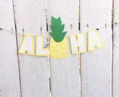 Aloha Pineapple Banner Hawaiian theme party