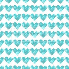 seamless pattern with turquoise hearts