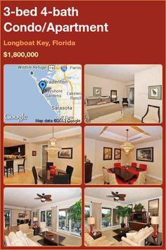 3-bed 4-bath Condo in Longboat Key, Florida ►$1,800,000 #PropertyForSale #RealEstate #Florida http://florida-magic.com/properties/7512-condo-for-sale-in-longboat-key-florida-with-3-bedroom-4-bathroom