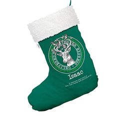 21deddfd030 TWISTED ENVY Special Delivery Reindeer Service Vintage Personalised Large Green  Christmas Stocking with White Trim