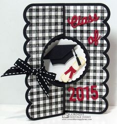 Class of 2015 created by Frances Byrne using Sizzix Circle Flip-its #2 Card Framelits; ECD Numbers & More; MFT Die-namics Graduation Accents. Stamps from Cornish Heritage Farms
