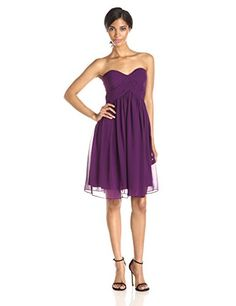 Donna Morgan Women's Strapless Sweetheart Chiffon Dress, Grape, 14 A sweetheart neckline and flirty skirt flatter everyone that wears this delicate chiffonFully linedConcealed back zipper Related Post                      Gold     Gold Source by JUWN                           24's       24's  By T.I.  Download from Itunes