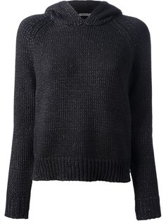 T BY ALEXANDER WANG chunky knit hoodie - £193 on Vein - getvein.com