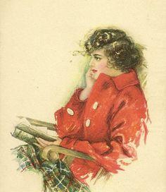 Pearle Fidler LeMunyan Pensive Lady Reading by TheOldBarnDoor