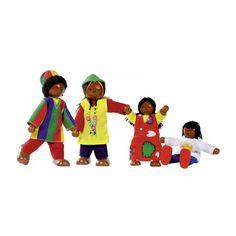 Goki Buigpoppen Afrikaanse familie