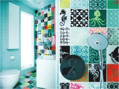 1000 images about mallorca bad on pinterest tile - Funky bathroom accessories uk ...