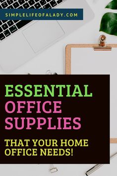 Get these supplies available in your home, so you can work productively even when you're at home!